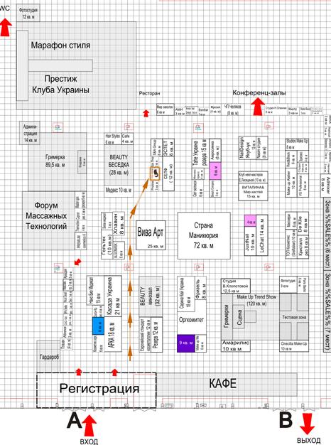 Карта выставки