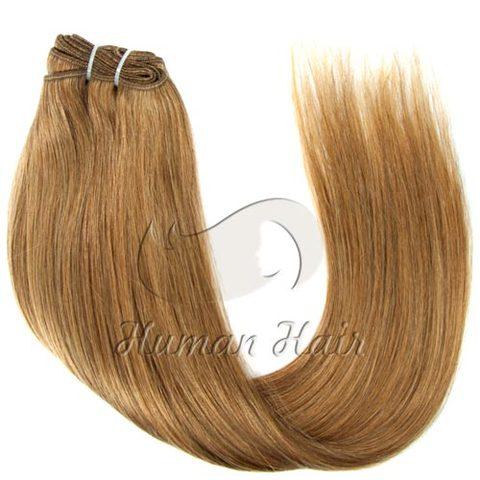 Буханка натуральные волосы для наращивания русые от 60 см блондинка косой